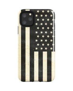 Black & White USA Flag iPhone 11 Pro Max Impact Case