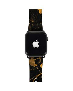 Black and Gold Scattered Marble Apple Watch Band 42-44mm