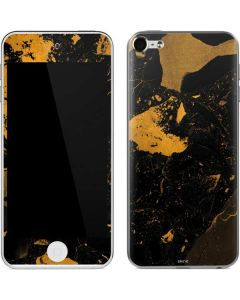 Black and Gold Scattered Marble Apple iPod Skin