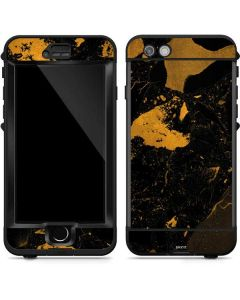 Black and Gold Scattered Marble LifeProof Nuud iPhone Skin