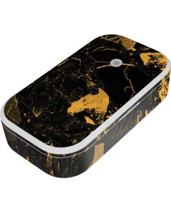 Black and Gold Scattered Marble UV Phone Sanitizer and Wireless Charger Skin