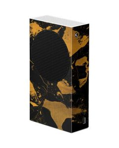 Black and Gold Scattered Marble Xbox Series S Console Skin