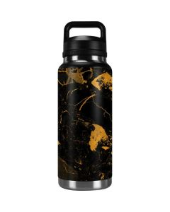Black and Gold Scattered Marble YETI Rambler 36oz Bottle Skin