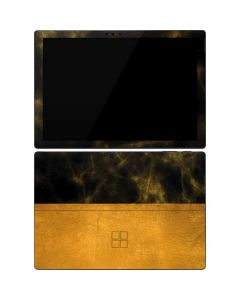 Black and Gold Split Marble Surface Pro 7 Skin