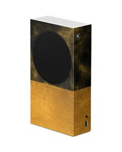 Black and Gold Split Marble Xbox Series S Console Skin
