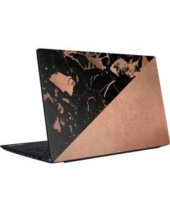 Black and Rose Gold Marble Split Dell Vostro Skin