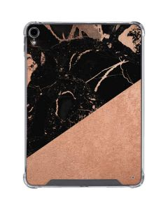 Black and Rose Gold Marble Split iPad Pro 11in (2018-19) Clear Case