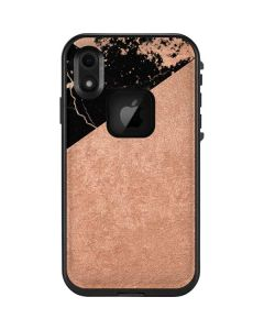 Black and Rose Gold Marble Split LifeProof Fre iPhone Skin