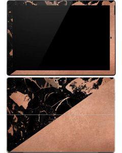 Black and Rose Gold Marble Split Surface Pro (2017) Skin