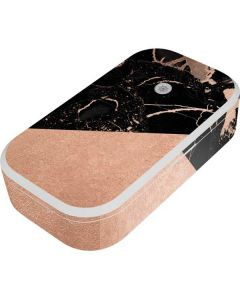 Black and Rose Gold Marble Split UV Phone Sanitizer and Wireless Charger Skin
