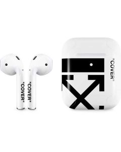 Black and White Arrows Apple AirPods 2 Skin