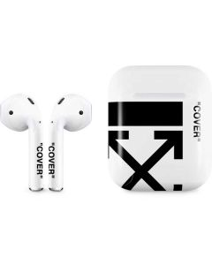 Black and White Arrows Apple AirPods Skin