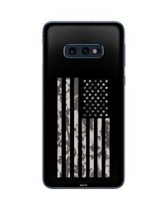 Black and White Camo American Flag Galaxy S10e Skin