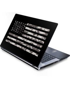 Black and White Camo American Flag Generic Laptop Skin