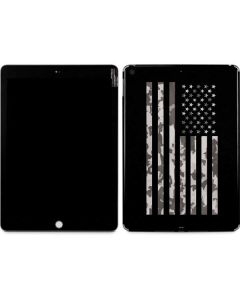 Black and White Camo American Flag Apple iPad Skin