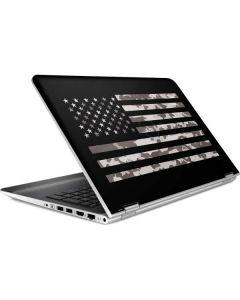 Black and White Camo American Flag HP Pavilion Skin