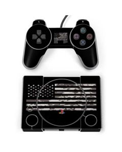 Black and White Camo American Flag PlayStation Classic Bundle Skin