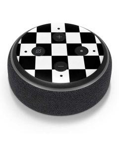 Black and White Checkered Amazon Echo Dot Skin
