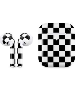 Black and White Checkered Apple AirPods 2 Skin