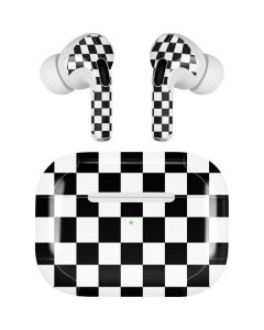 Black and White Checkered Apple AirPods Pro Skin