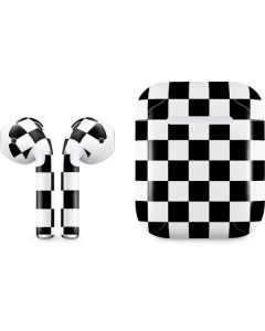 Black and White Checkered Apple AirPods Skin
