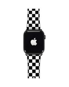 Black and White Checkered Apple Watch Case