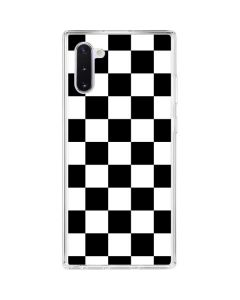 Black and White Checkered Galaxy Note 10 Clear Case