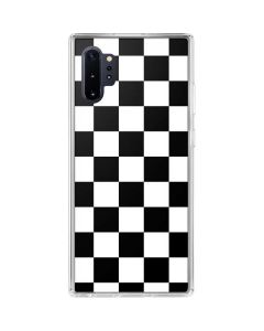 Black and White Checkered Galaxy Note 10 Plus Clear Case