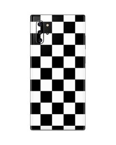 Black and White Checkered Galaxy Note 10 Plus Skin