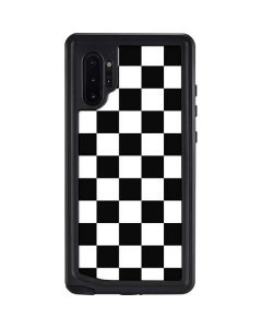 Black and White Checkered Galaxy Note 10 Plus Waterproof Case