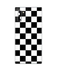 Black and White Checkered Galaxy Note 10 Skin