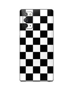 Black and White Checkered Galaxy Note20 5G Skin