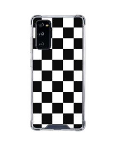 Black and White Checkered Galaxy S20 FE Clear Case