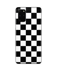 Black and White Checkered Galaxy S20 Plus Skin