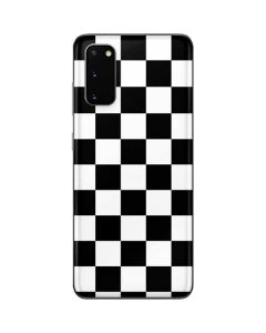 Black and White Checkered Galaxy S20 Skin