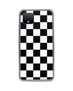 Black and White Checkered Google Pixel 4 Clear Case