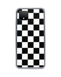 Black and White Checkered Google Pixel 4 XL Clear Case