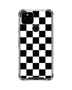 Black and White Checkered Google Pixel 4a 5G Clear Case