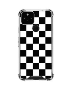 Black and White Checkered Google Pixel 5 Clear Case