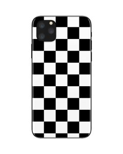 Black and White Checkered iPhone 11 Pro Max Skin