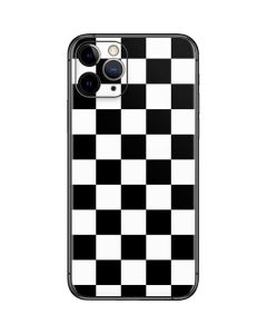 Black and White Checkered iPhone 11 Pro Skin