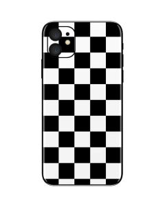 Black and White Checkered iPhone 11 Skin
