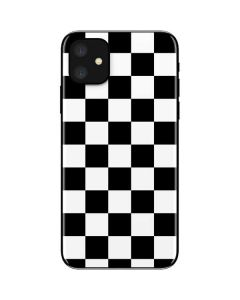 Black and White Checkered iPhone 11 Skin