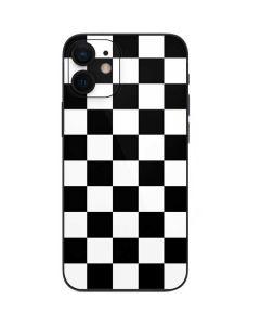 Black and White Checkered iPhone 12 Mini Skin