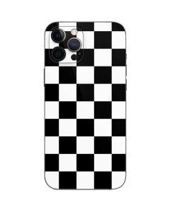 Black and White Checkered iPhone 12 Pro Skin