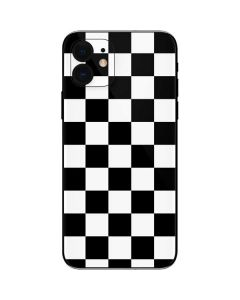 Black and White Checkered iPhone 12 Skin