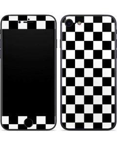 Black and White Checkered iPhone SE Skin