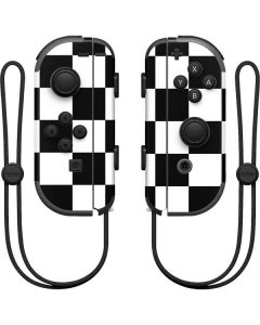 Black and White Checkered Nintendo Joy-Con (L/R) Controller Skin