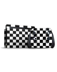 Black and White Checkered Nintendo Switch Bundle Skin