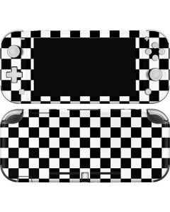 Black and White Checkered Nintendo Switch Lite Skin